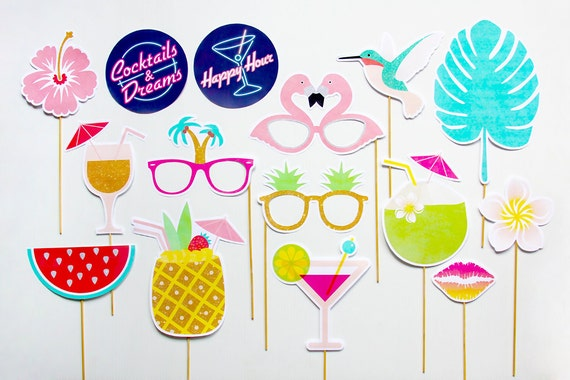 Tropical Themed Party Ideas Free Printables: Tropical Party Props Cocktails And Dreams Photo By