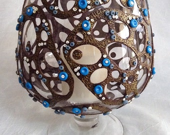 Recycled Glass Vase - Polymer Clay