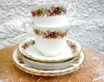 Vintage Salisbury Teacup, Saucer & Cake Plate x 2