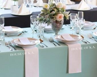60 x 126 inch Aqua Spa Rectangular Tablecloths, Aqua Spa Table Cloths for 8 FT Tables