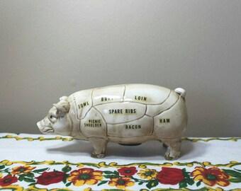 Vintage Piggy Bank, Butcher's Cut Piggy Bank