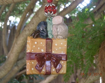 Christmas Ornament ~  The Night Before Christmas and All through the House Not a Creature was Stirring not even a MOUSE.