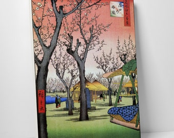 Hiroshige's Plum Garden Gallery Wrapped Canvas Print