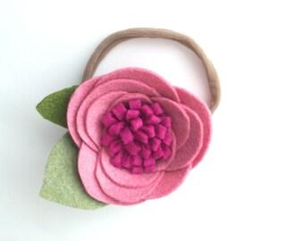 Baby girl headbands - pink - baby headbands - Olivia