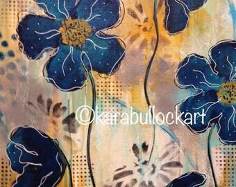 Blue Flowers - Fine Art Print