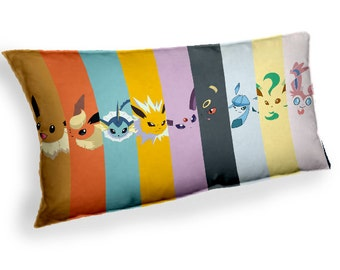 Pokemon Eevee Evolution Espeon Umbreon - Custom Geek Fabric Cushion Pillow cover Home Decor Thrown Pillow With Inner