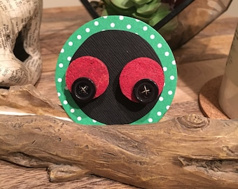 Red Upcycled Cork Earrings