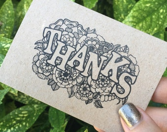 THANKS mini greeting card with envelope