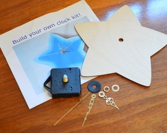 build your own clock kit craft kit create a clock kids craft project