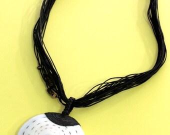 Sea snail, necklace - 2102