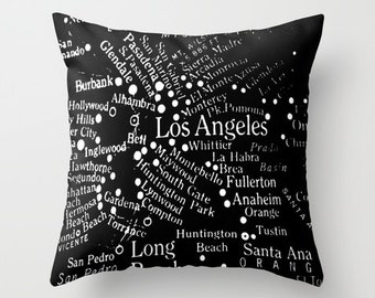 LOS ANGELES MAP    Pillow Cushion