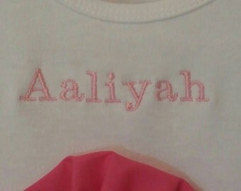 Additional Embroidery Accent Personalization