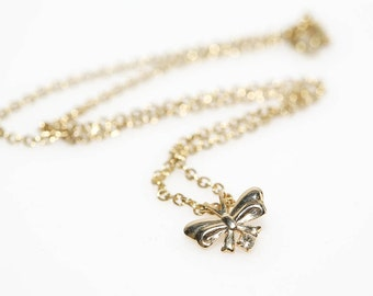 Single Bow Necklace