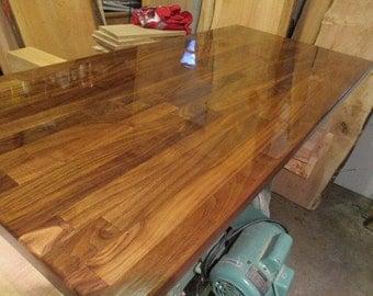 "Walnut Butcher Block,  Desk Tops- 25""  wide x  6 ft. Long, walnut desk top, walnut desk or walnut countertop, table top for DIY finisher"