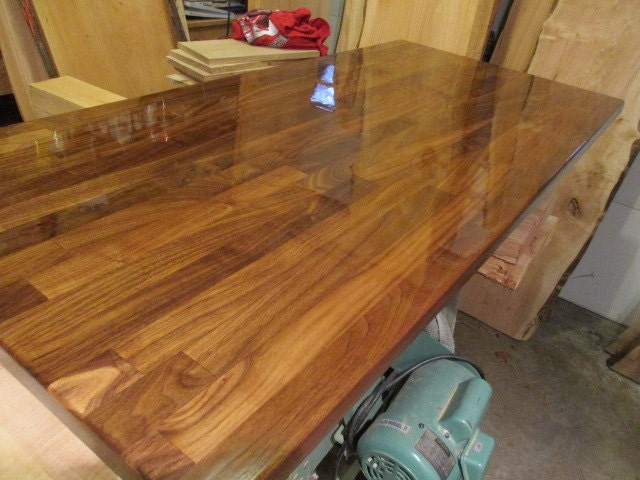 Walnut Butcher Block Desk Tops 25 wide x 6 ft.