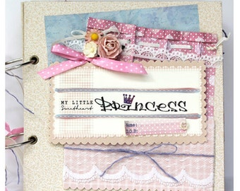 Little Princess Handmade Scrapbook Album Baby Album Baby Alternative Photo Book