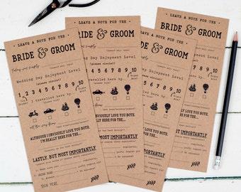 Funny Wedding Mad Libs - Funny Wedding Advice -  Wedding Reception Score Cards - Wedding Mad Libs Advice - Wedding Game Questions