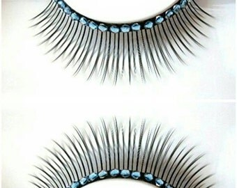 60% OFF Light Blue Rhinestone False Eyelashes