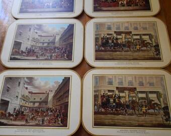Vintage placemat/England placemat/Vintage table mats/set of 6 pc