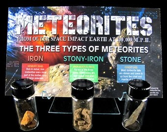 The Three Types of Meteorites Impact Earth Set
