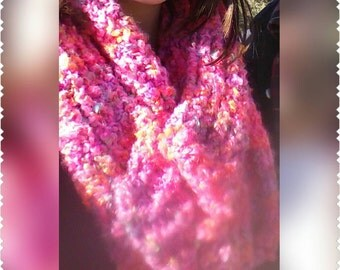 Pink cowl/ infinity scarf