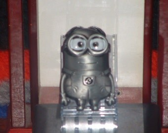 Cartoon Character Minion Silver Metal Finish Belt Buckle