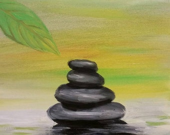 "Original Painting ""Zen Rocks"""