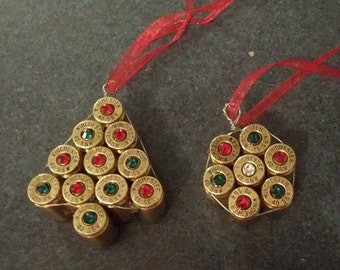 2 Bullet casing Christmas ornament (set of 2)