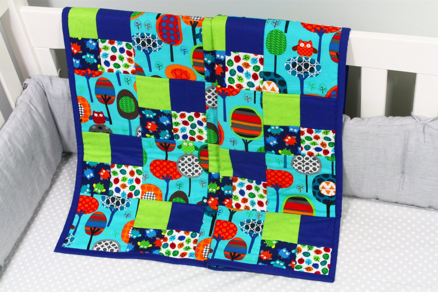 Baby Gift Quilt : Baby quilt handmade modern gift