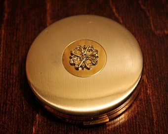 Avon Powder Compact in Silver and Gold