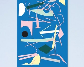 SALE! Abstract arty art print A4 02