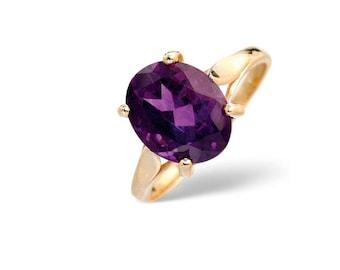 9K Gold 2.25ct Amethyst Ring