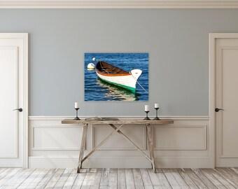 Grace ~ Vineyard Haven, Canvas Gallery Wrap, Photograph, Nautical, Beach, Martha's Vineyard, New England, Coastal Decor, Boat, Artwork