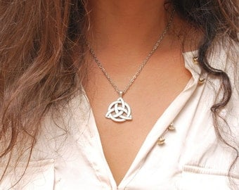 Charmed Pendant, Triquetra necklace, The Power of Three, Vampire necklace, Charmed jewelry, Series jewelry