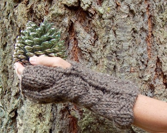 Fingerless gloves for Women, Hand warmers, Arm warmers,  in Chunky Barley