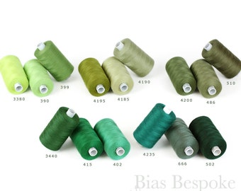 ESTER 80 All-Purpose Sewing Thread, 100% Polyester, 1094 Yards, Green