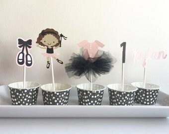 Ballet Ballerina Cupcake Toppers