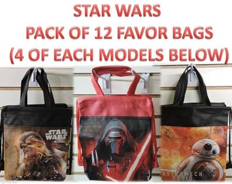 StarWars Party Favor Bag , Star Wars Birthday Party Goodie Bag, Star Wars Party Supplies, Star Wars Party Favor Bags