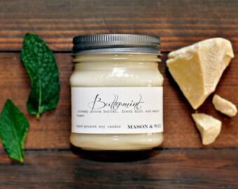 Buttermint Mason Jar Soy Candle