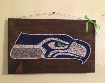 Seattle Seahawks String Art Sign