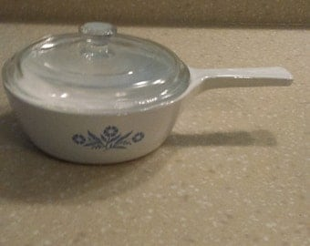 Corning Ware Cornflower 1 Pint Menu-ette Saucepan With Lid