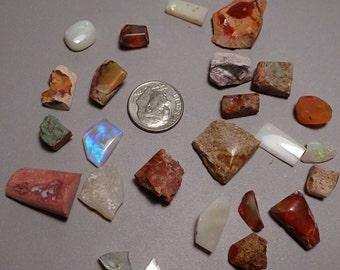 Opals 25 for 13 Dollars from Australia and Mexico