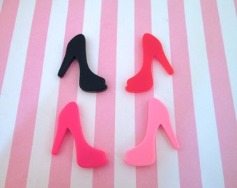Multicolor High Heel  Kawaii Cabochons, Pick your Amount, #695a