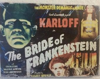 Bride of Frankenstein Wood Art