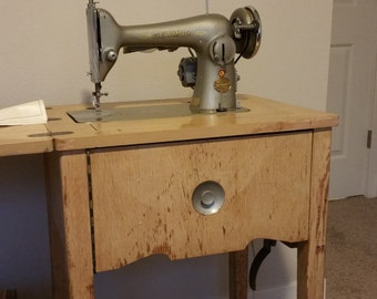 Vintage Japanese-Made Sewmor Sewing Machine,