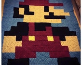 Super Mario inspired Blanket ( twin size)