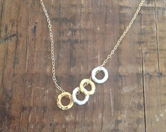 Add a 8.5mm Hammered Circle to a necklace