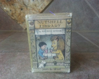 1962 The Nutshell Library by Maurice Sendak, Harper and Row Publishers, Set of 4,Nice Condition, No Dust Jackets