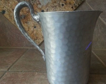 Mid Century Hand Forged Aluminum Pitcher, EverLast #1011,  Very Good Condition,