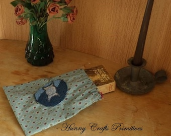Triple Moon Goddess Jewellery Crystals pouch Finished Punch Needle Wicca Wiccan Witch Pagan from Hunny Crafts Primitives.
